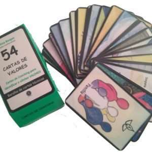 Cartas de Coaching - 54 CARTAS DE VALORES - Cartas de Coaching para Identificar a Alinhar Valores