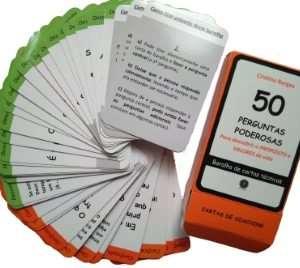 Baralho de cartas técnicas -50 PERGUNTAS PODEROSAS Para descobrir o PROPÓSITO e VALORES de vida